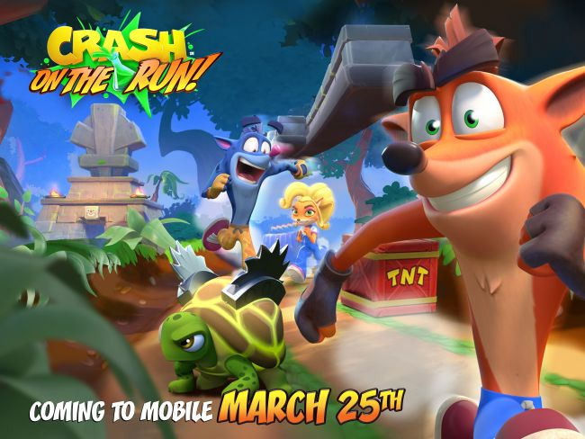 Crash Bandicoot On the Run! confirmado para 25 de março